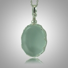 Oval Glass Locket Memorial Jewelry 
